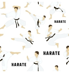 Karate set pattern vector image