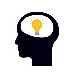 Lightbulb idea vector image