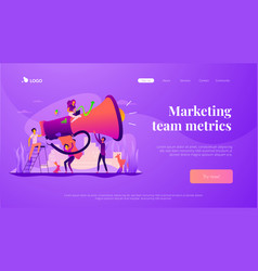 marketing team landing page template vector image