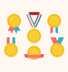 Medals with Ribbons vector image
