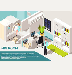 Medicine concept mri scan and diagnostics patient vector