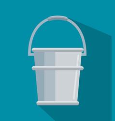 metalic pot gardening icon vector image
