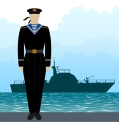 Military uniform navy sailor-6 vector