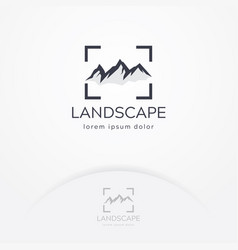 Mountain photography logo vector