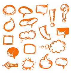 Orange Hand Draw vector