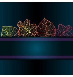Ornamental background with art autumn leaves vector image