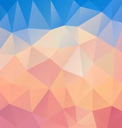 pastel pink blue polygon triangular pattern vector image
