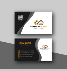 Printable business card template vector