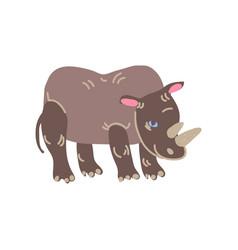 Rhinoceros wild exotic african animal vector