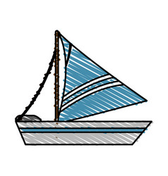Sailboat icon image vector
