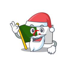 Santa flag algeria are stored mascot bag vector