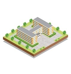 school or university or college building flat vector image