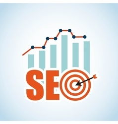 search engine optimization design vector image