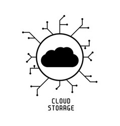 secure cloud technology cloud protected cloud vector image