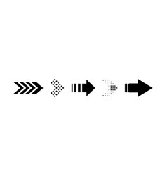 set black arrow icon vector image