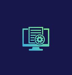 Settings file icon vector