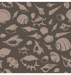 Shell seamless patter 7 vector