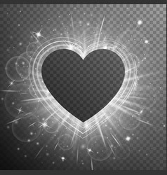 Silver background with hearts vector
