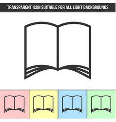 simple outline transparent open book or brochure vector image