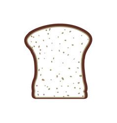 Slice bread vector