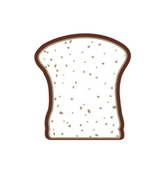 Slice of bread vector