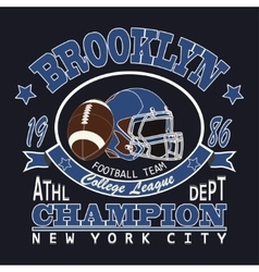 Sport Typography Brooklyn Football vector image