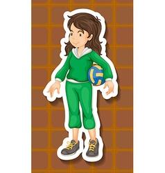 Sportgirl vector