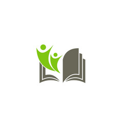 student school open book education logo vector image