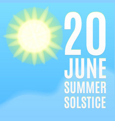 Summer solstice background vector