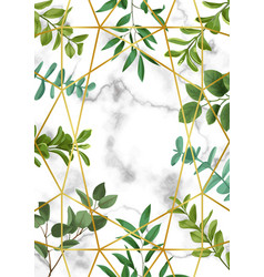 Template frame with greenery vector