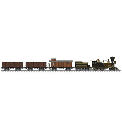 The vintage american freight steam train vector