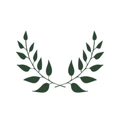two branches eco banner with branches vector image