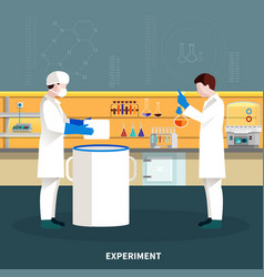 two scientists people composition vector image