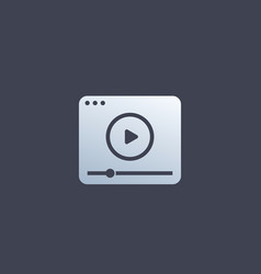 video player icon logo design for apps vector image