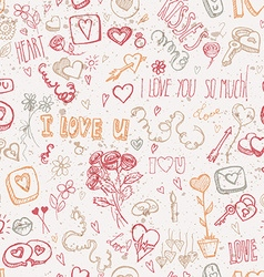 Vintage doodles for Valentines day vector image