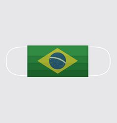 viruses covid-19 spread in brazil mask protect vector image