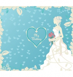 Wedding cover vector