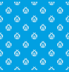 wild west revolver pattern seamless blue vector image