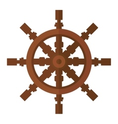 Yacht wheel icon isolated vector image