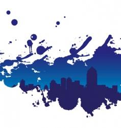 cityscape splodge vector image vector image