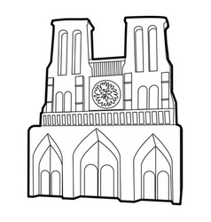 French castle icon outline style vector