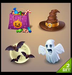 halloween icons-set 2 vector image vector image