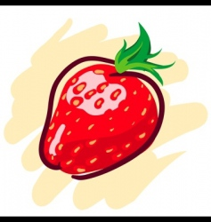 Hand drawn strawberry vector