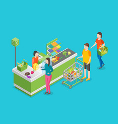 pay in store 3d isometric view vector image vector image