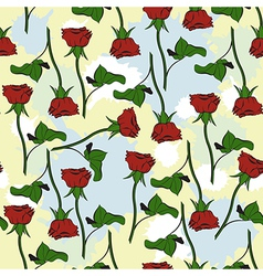 Seamless texture with roses and blots vector image vector image