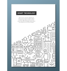 Smart Technology - line design brochure poster vector image vector image