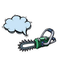 chainsaw-100 vector image vector image