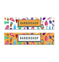 Hairsalon web banner vector