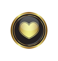 heart icon gold vector image vector image