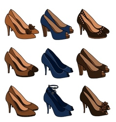 high heeled shoes vector image vector image